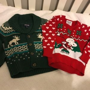 Peanuts Shirts & Tops - Holiday / Christmas toddler sweaters